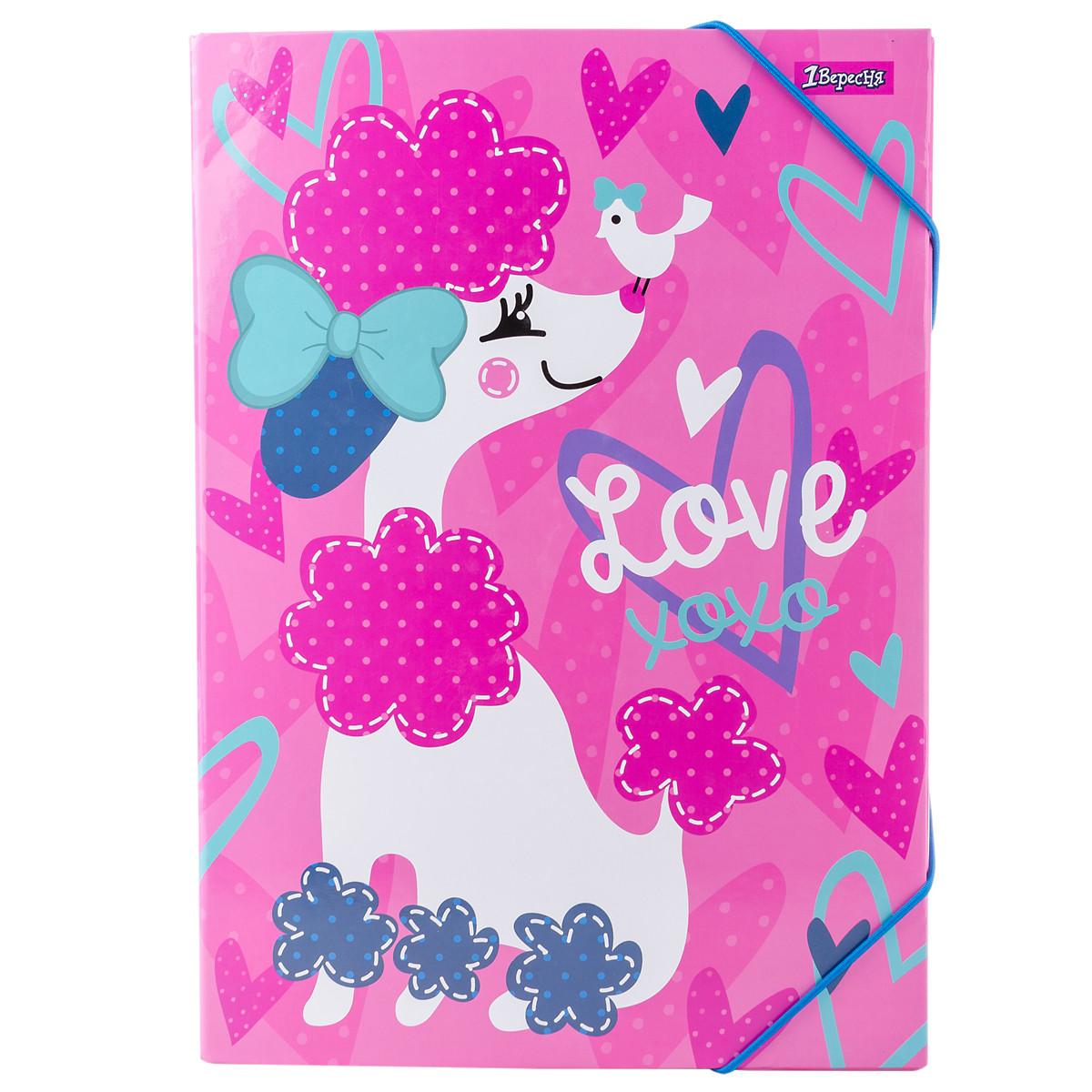 """Папка для труда 1 Вересня картонная А4 """"Love XOXO"""" код:491891"""