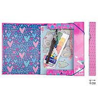 """Папка для труда 1 Вересня картонная А4 """"Love XOXO"""" код:491891, фото 3"""