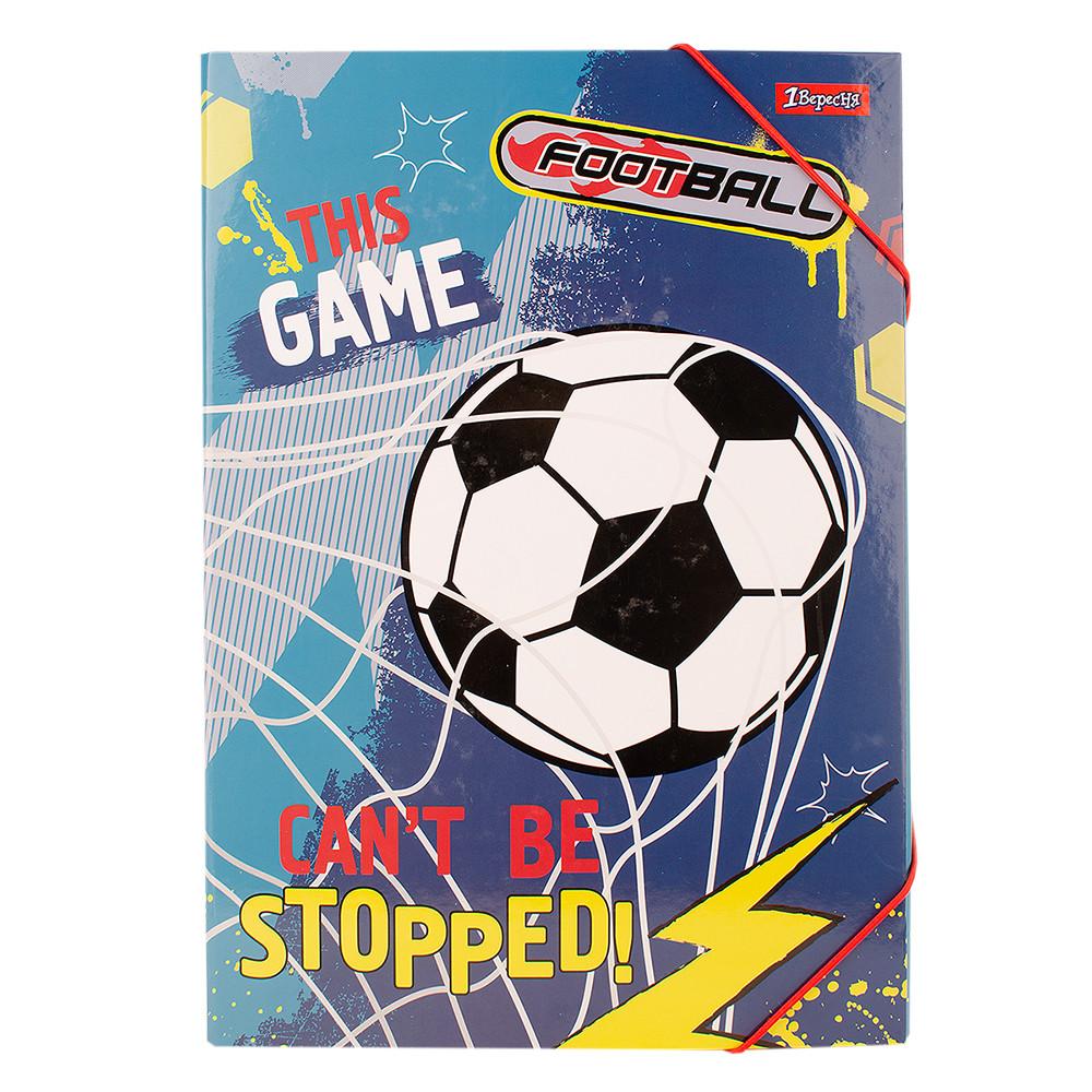 """Папка для труда 1 Вересня картонная A4 """"Team football"""" код:491894"""