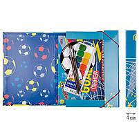 """Папка для труда 1 Вересня картонная A4 """"Team football"""" код:491894, фото 3"""