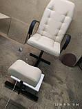 Крісла для педикюру з підставкою для ніг і стільцем для майстра, фото 2