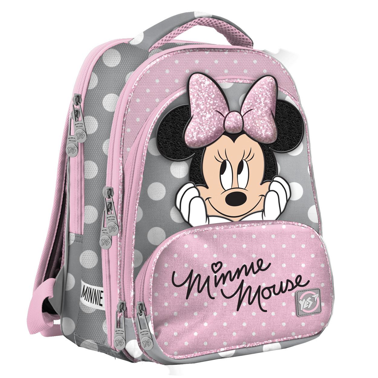 """Рюкзак школьный ортопедический Yes S-30 JUNO ULTRA """"Minnie Mouse"""" код:558156"""