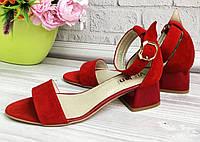 Молодежные босоножки на удобном каблуке., фото 1