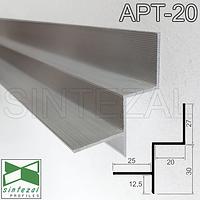 Алюминиевый профиль теневого шва 20х30 мм. Sintezal ATP-20, фото 1