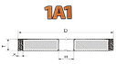 Круг алмазный шлифовальный  1А1 150х20х3х32 160/125  АС4 B2-01  Стандарт, фото 4