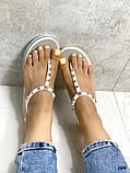 Женские босоножки силиконовые, белые, пудра, черные, фото 4