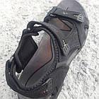Сандалии мужские кожаные р.40 чёрные Adidas, фото 5