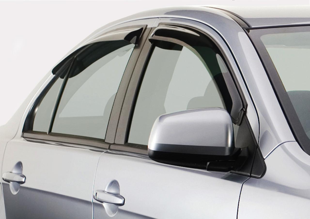 Дефлектори вікон (вітровики) Kia Rio 2 (5-двер.) (hatchback)(2005-2011)