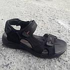 Сандалии мужские кожаные р.40 чёрные Adidas, фото 2