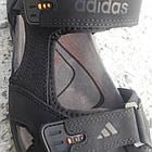 Сандалии мужские кожаные р.40 чёрные Adidas, фото 4