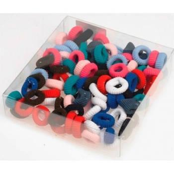 Sibel Резинки для волос маленькие цветные 100 шт