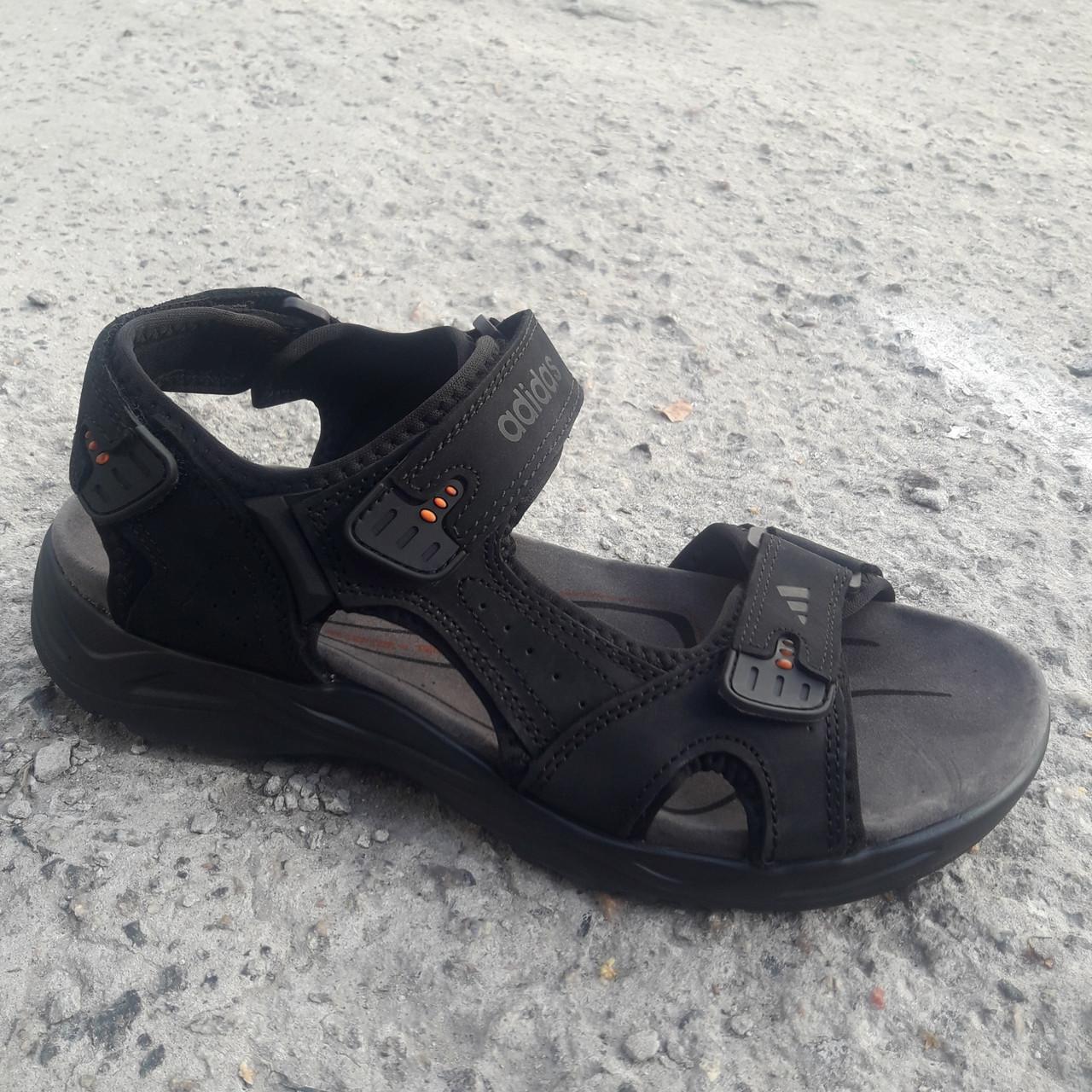 Сандалии мужские кожаные р.41 чёрные Adidas