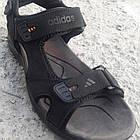 Сандалии мужские кожаные р.41 чёрные Adidas, фото 2