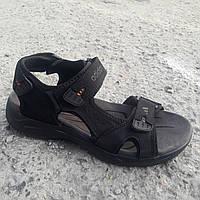 Сандалии мужские кожаные р.42 чёрные Adidas