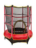 Батут Just Fun с внутренней сеткой 140 см красный