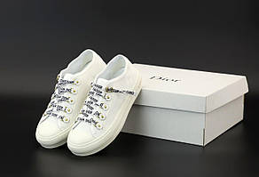 Женские кроссовки Christian Dior White белого цвета (кеды Кристиан Диор 36-40 весна/лето)