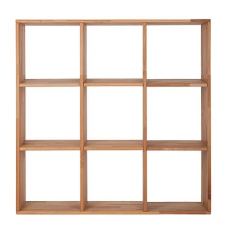 """Деревянный стеллаж для книг """"Куб"""" от производителя 3х3"""