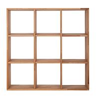 """Деревянный стеллаж для книг """"Куб"""" от производителя 3х3, фото 1"""