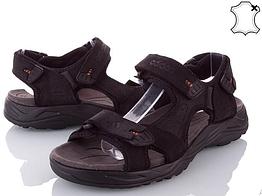 Сандалии мужские кожаные р.45 чёрные Adidas
