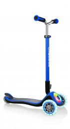 Самокат Globber  Elite Prime синий 3 колеса с подсветкой 444-800