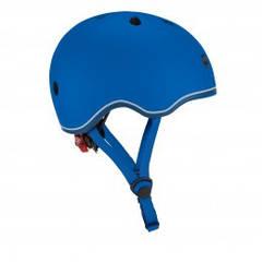 Защитный шлем детский Globber Evo Lights, синий, с фонариком, 45-51см 506-100