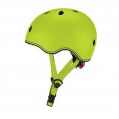 Шолом захисний дитячий Globber Evo Lights, зелений, з ліхтариком, 45-51см 506-106