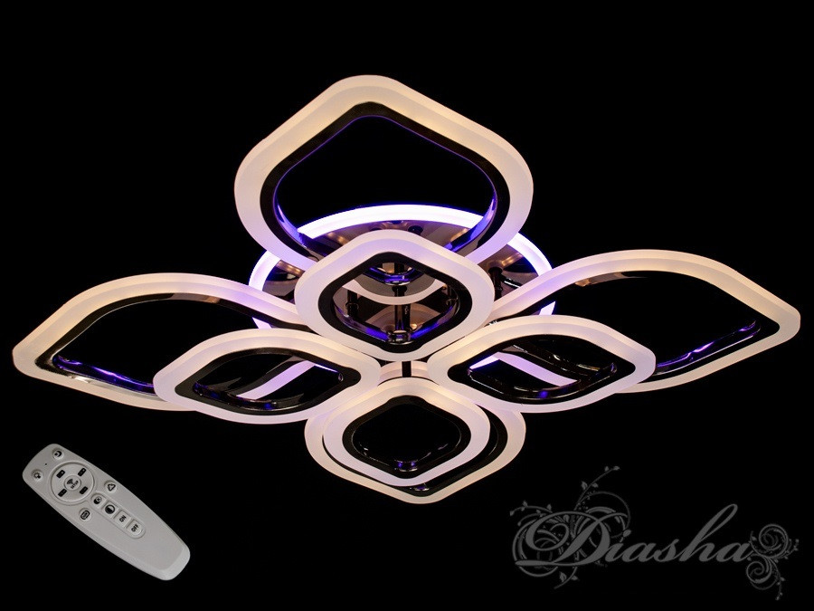 Светодиодная люстра с пультом управления A8073/4+4BHR LED 3color dimmer