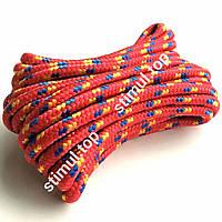 Шнур поліпропіленовий Ø 10 мм (М-Тих) ➜ 20 метрів ➜ Плетений фал з наповнювачем ➜ Мотузка господарська