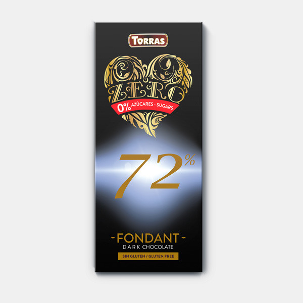 Шоколад TORRAS ZERO 72% (чорний), 100г