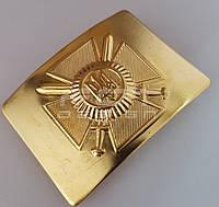 Бляха/ Пряжка сухопутних військ латунна ЗСУ/ВСУ, фото 1