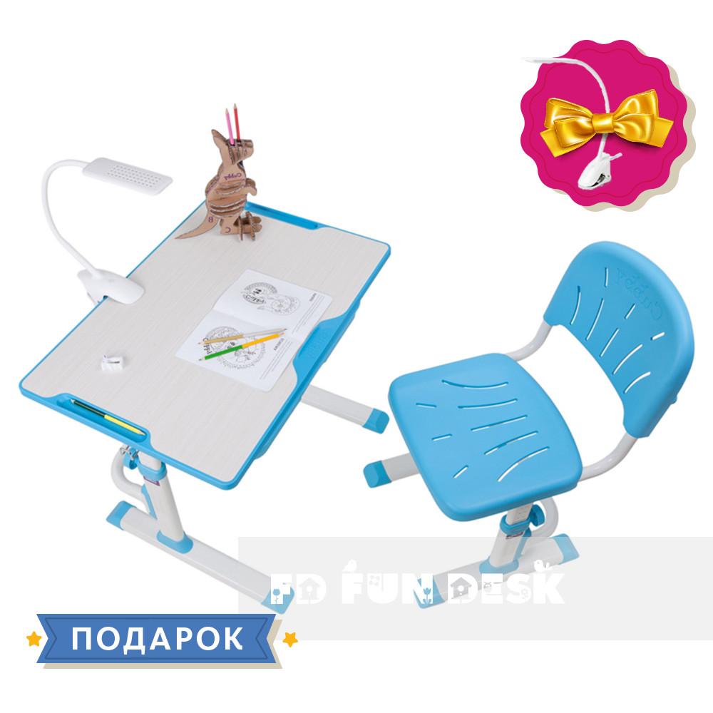 Растущая детская парта со стульчиком Cubby Lupin Blue