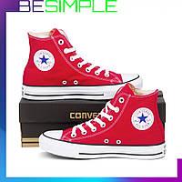 Кеды конверс высокие / Converse all star / Красные