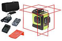 Лазерный уровень (нивелир) Fukuda 3D 93T-1 красный луч Аккумулятор 2600!