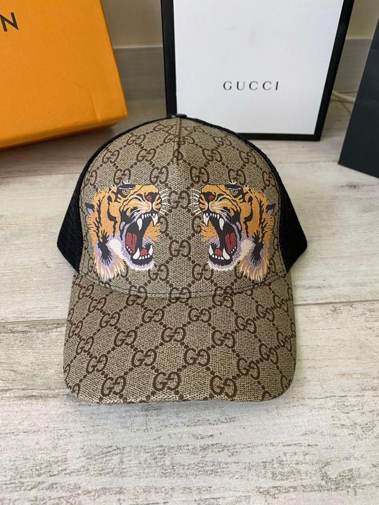 Брендовая бейсболка Gucci Tigers 21312 разноцветная