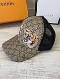 Брендовая бейсболка Gucci Tigers 21312 разноцветная, фото 2