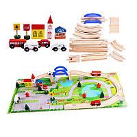 Деревянная детская дорога с машинками Sapphire PS 398