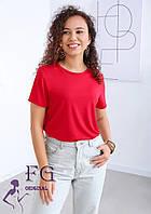 Жіноча однотонна футболка В 003/02, фото 1