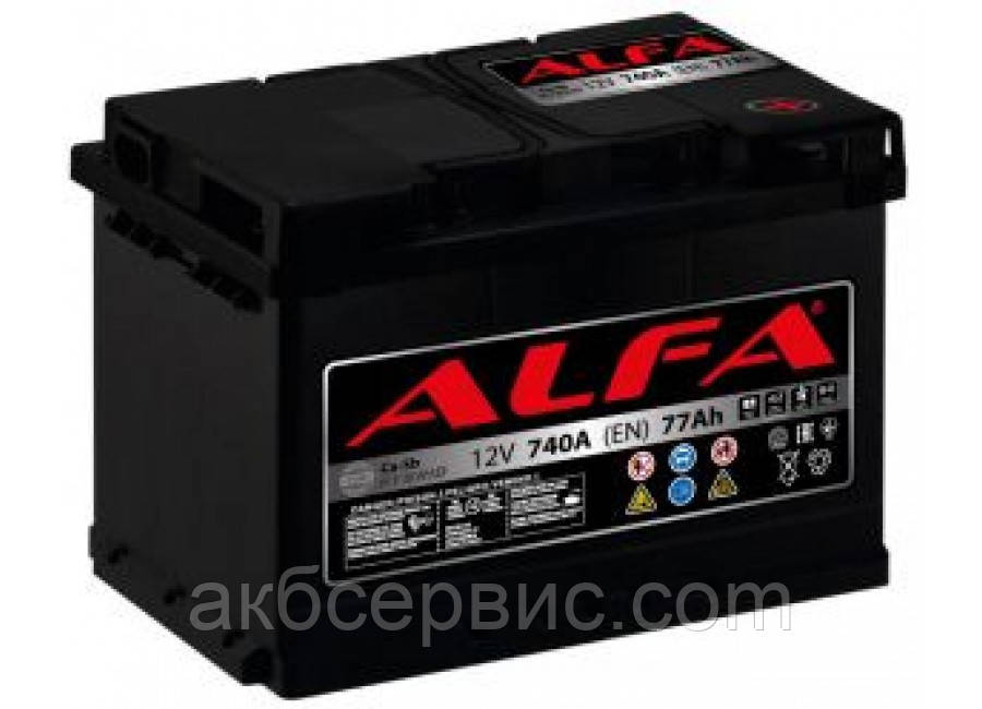 Аккумулятор автомобильный ALFA 6СТ-77 АзЕ