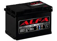 Аккумулятор автомобильный ALFA 6СТ-77 АзЕ, фото 1