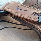 Сандалі чоловічі шкіряні р. 40 світло-коричневі Nike, фото 5