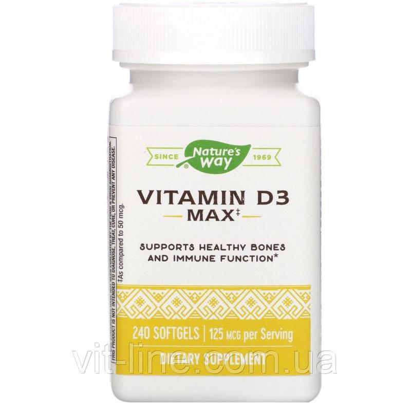 Nature's Way, Витамин D3, 5000 МЕ, 240 мягких таблеток