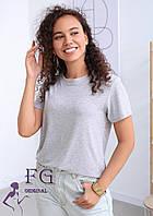 Жіноча однотонна футболка В 003/04, фото 1