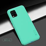 Nillkin Xiaomi Mi 10 Youth/ Mi 10 Lite Super Frosted Shield Mint Green Чехол Накладка Бампер, фото 7
