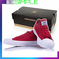 Кеды Converse All Star II Mono низкие / Кеды Конверс Моно красные