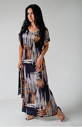 Летнее длинное платье из шелка размеры 42-44,46-48,50-52