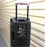 Колонка на аккумуляторе с беспроводным микрофоном Ailiang UF-1018 /100W (USB/Bluetooth/FM), фото 4