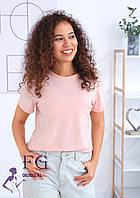 Жіноча однотонна футболка В 003/06, фото 1