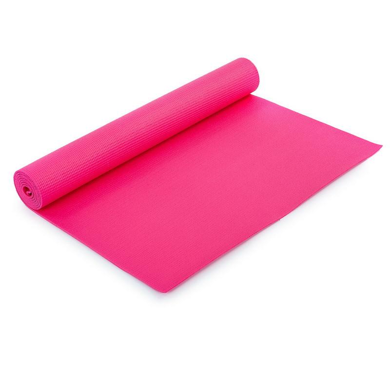 Килимок для фітнесу і йоги PVC 173смх61смх4мм. (ЧЕРВОНИЙ)