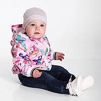 Ветровка детская Доречи Рисунки на розовом фоне (Размер 92, 98, 104, 110), фото 1