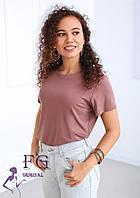 Жіноча однотонна футболка В 003/07, фото 1